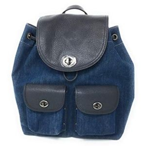 Coach | Turnlock Rucksack - Colorblock Denim